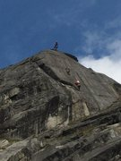 Rock Climbing Photo: 3 dudes on Rise crack