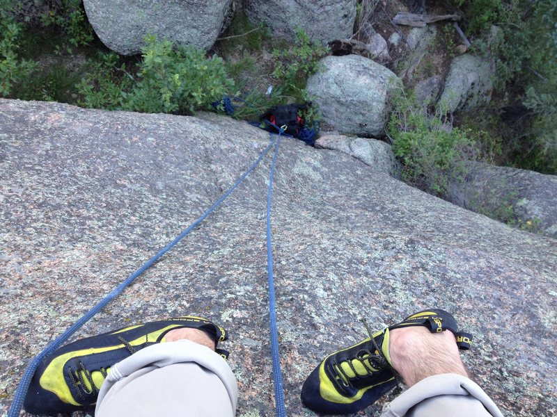 Looking down the 5.9.