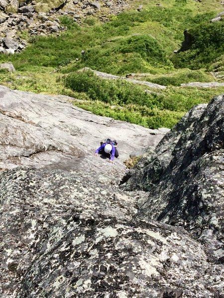 Rock Climbing Photo: A face climbing section on Bombay Deluxe