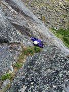 Rock Climbing Photo: Jess in the upper corner of Bombay Deluxe