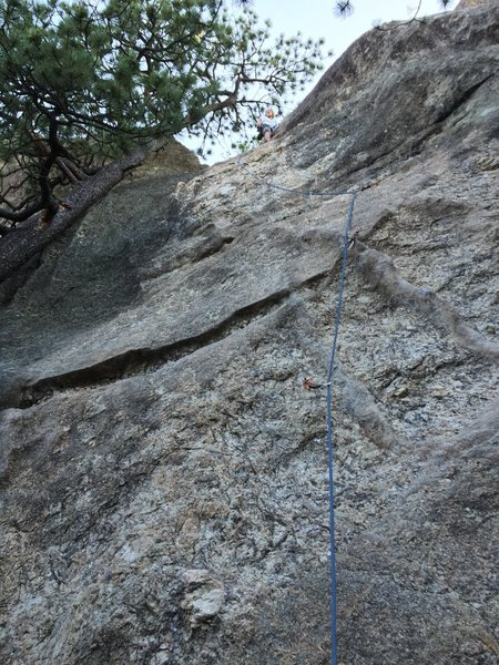 Rock Climbing Photo: Ben after cruising his first 5.8 lead of Bolts for...
