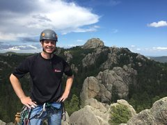 Rock Climbing Photo: Me on top of Hornet's Nest after following up Seco...