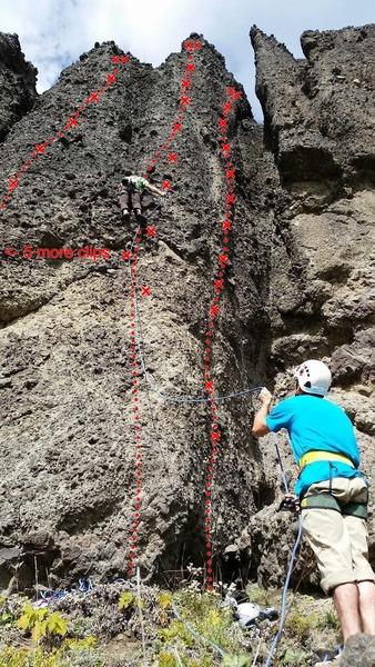 East face climbs