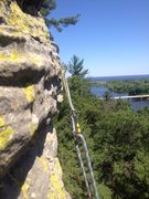 Rock Climbing Photo: Overlooking the Wisconsin River