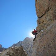 Rock Climbing Photo: Golden Horn Pitch of the Grand Traverse