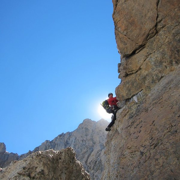 Jeff on the second pitch out of the Gunsight
