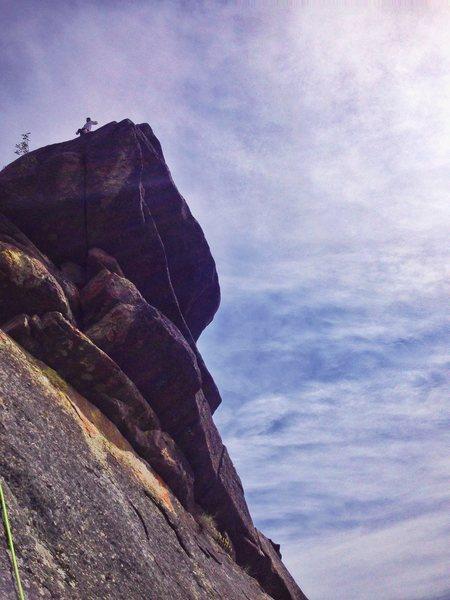 Rock Climbing Photo: Tony high atop the West Face of Peek-a-boo Tower