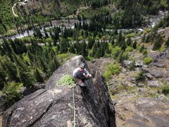 Rock Climbing Photo: Tony on top of Peek-a-boo Tower after ascending th...