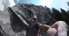 Rock Climbing Photo: Nearing the end of the first pitch. Basically a ve...