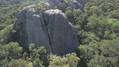 Rock Climbing Photo: The Lower Tier. Climber is on Amazing Face.