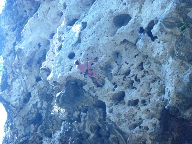 Rock Climbing Photo: The roof at thakhek