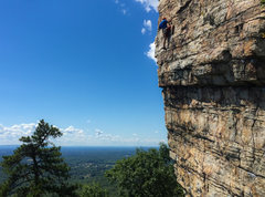 Rock Climbing Photo: Me on lead at a good rest getting in some gear aft...