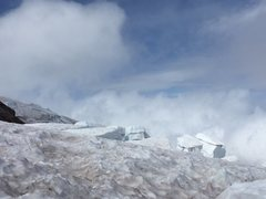 Rock Climbing Photo: View of seracs above the Ingraham Flats on the DC ...