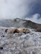 Rock Climbing Photo: Ingraham Flats camp before the storm rolled in.