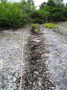 Rock Climbing Photo: P3 of Ground Control, taken from about bolt#1, loo...