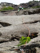Rock Climbing Photo: Upper part of P1 of Time-Space Continuum ; climber...