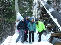 Rock Climbing Photo: The crew at Ouray ice park