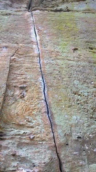 Rock Climbing Photo: Subatomic Fingerlock (closed)