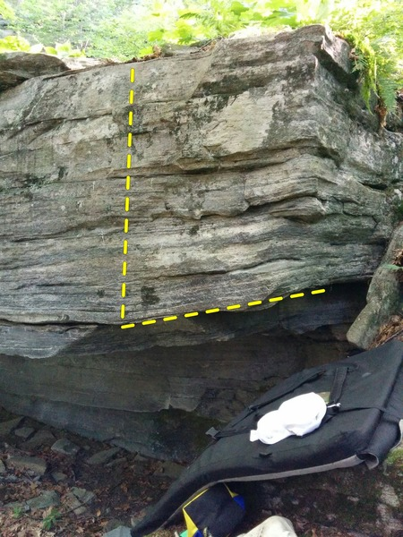 Rock Climbing Photo: Rook Direct starts in the gap on the right, makes ...