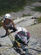 Rock Climbing Photo: Jenny w/ the pig on Moby Grape