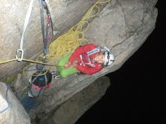 Rock Climbing Photo: Jenny on a Moby Grape night missio