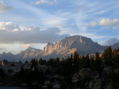 Rock Climbing Photo: East side of Titcomb Basin (Helen, Sacajawea and F...