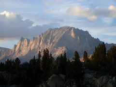 Rock Climbing Photo: Fremont Peak from above Island Lake.