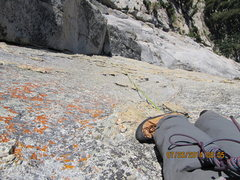 Rock Climbing Photo: On the runout  P3