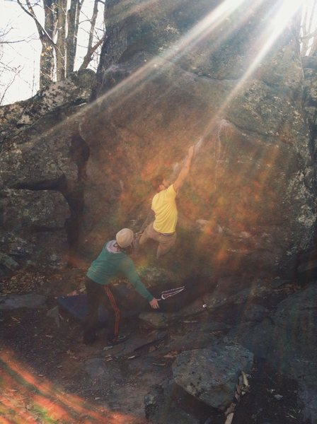 Rock Climbing Photo: Periscope. A classic Grayson highlands problem