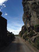 Rock Climbing Photo: Dillan charging ahead.