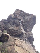 Rock Climbing Photo: Action shot.