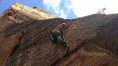 Rock Climbing Photo: Aiding in zion