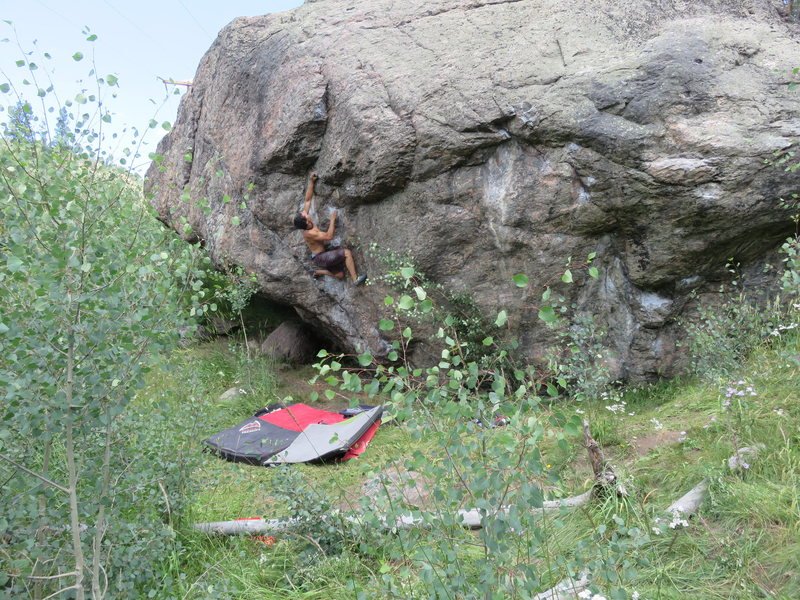 Rock Climbing Photo: One of the best boulder problems in the area.