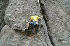 Rock Climbing Photo: Brandon Emery working the crux