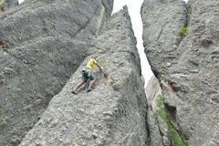 Rock Climbing Photo: Brandon Emery leading sardine