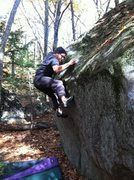 Rock Climbing Photo: Tim searching for some friction!