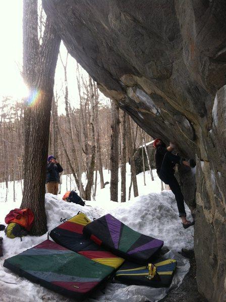 Mike Mango getting into the steep stuff