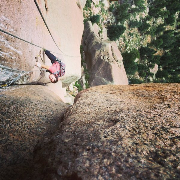 Rock Climbing Photo: p2 on Cynical Pinnacle