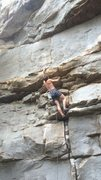 Rock Climbing Photo: first bolt is a high one, 20 ft give or take