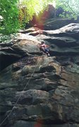 Rock Climbing Photo: Eli on Double Trouble