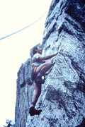 Rock Climbing Photo: David Engel seconding the Gendarme in 1986.  A few...