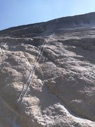 Rock Climbing Photo: Photo of rope setup on route, easy beginning.