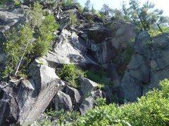 Rock Climbing Photo: Brulot and Classique cache Credit: Remi Maupetit C...