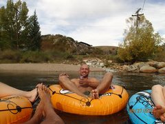 Rock Climbing Photo: Floating the river in Steamboat.