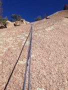 Rock Climbing Photo: The top section and the last bolt.