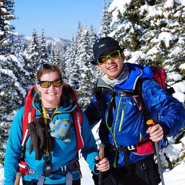 alpine touring at Vail Pass