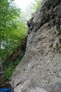 Rock Climbing Photo: some steezy 5.7 at Rumney
