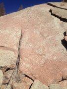 Rock Climbing Photo: Ending Crack