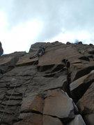 Rock Climbing Photo: Rich finishing the crux.