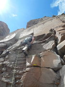 Rock Climbing Photo: Rich starting the crux.
